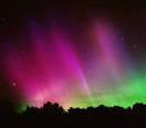 luz rosada en el cielo