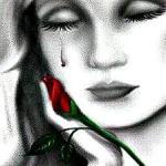 cara de mujer llorando