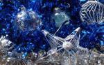 adorno de nav en azul