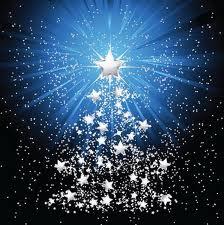 arbolito de estrellas azul